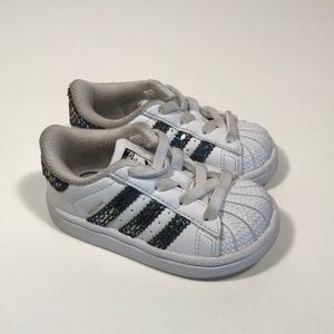 Adidas Superstar Toddler Girl Sneakers Size 4 K